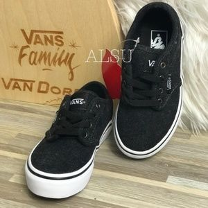 NWT VANS Atwood Chambray Black Kid's AUTHENTIC